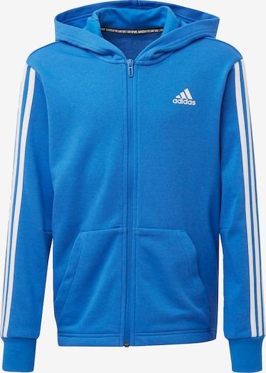 ADIDAS PERFORMANCE Sweatjacke '3-Streifen Musts Have' in himmelblau / weiß, Produktansicht