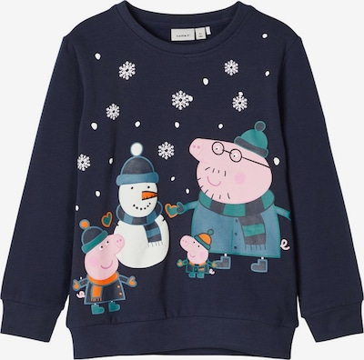 NAME IT Sweatshirt 'Peppa Pig' in navy / mischfarben, Produktansicht