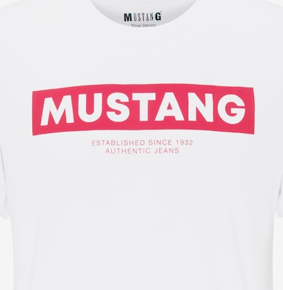 MUSTANG T-Shirt ' Alex C Print ' in weiß, Produktansicht