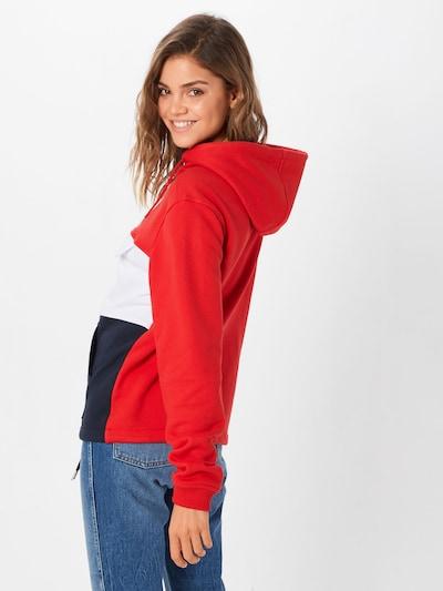 Urban Classics Sweatshirt in navy / rot / weiß: Rückansicht