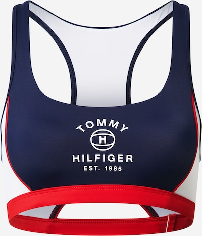 Sutien costum de baie Tommy Hilfiger Underwear pe albastru închis / roșu / alb, Vizualizare produs