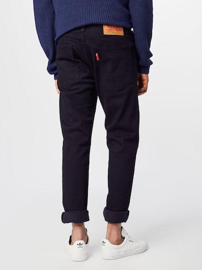 LEVI'S Jeans 'Hi-Ball Roll' in de kleur Black denim: Achteraanzicht