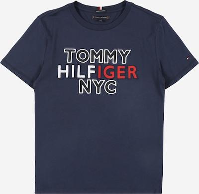 TOMMY HILFIGER T-Shirt 'NYC' en bleu nuit / rouge / blanc, Vue avec produit