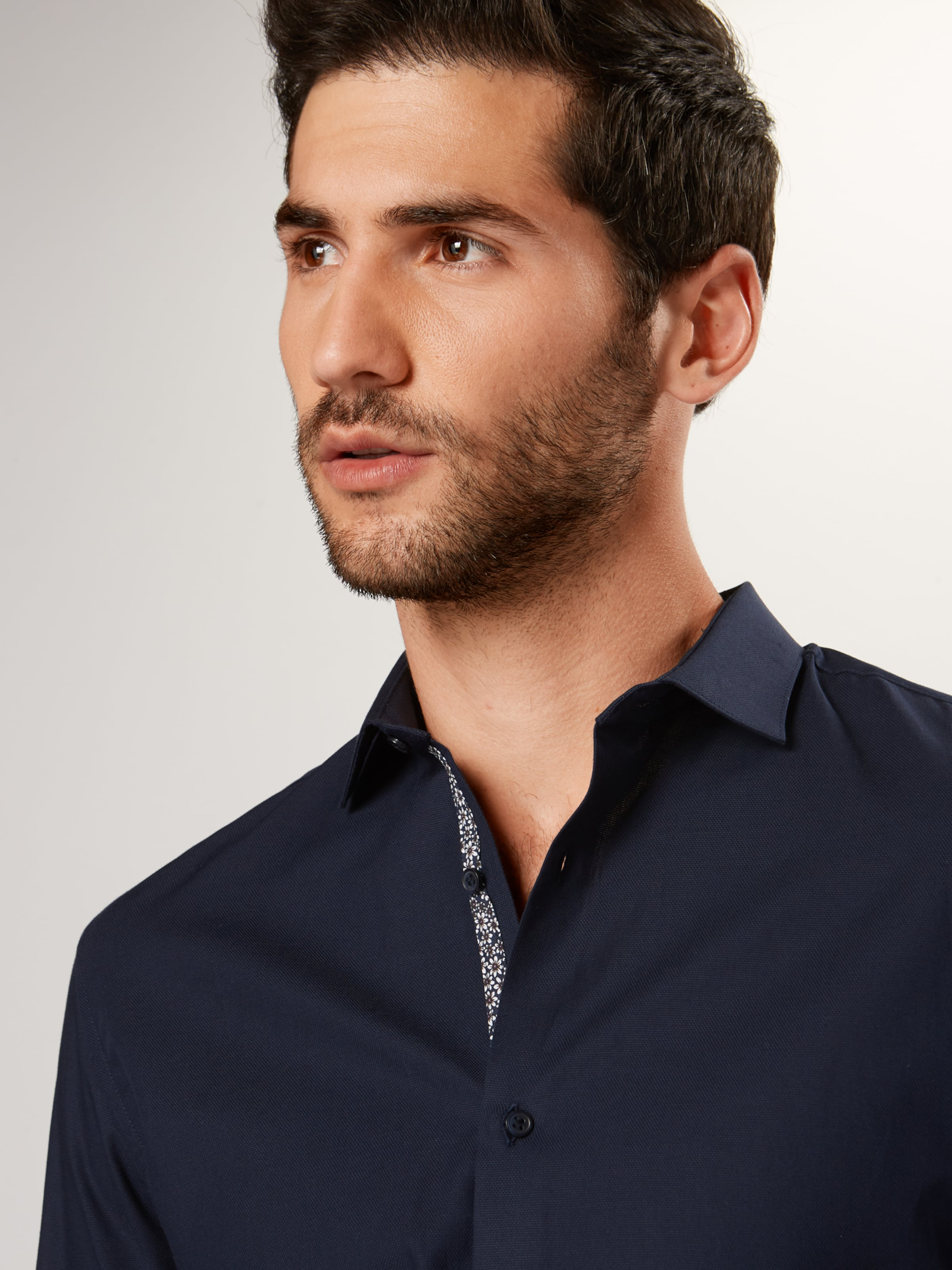 JACK & JONES Businessskjorta 'VICTOR' i marinblå