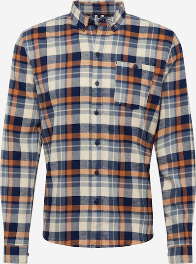 Hailys Men Hemd 'Shirt Check' in navy / orange, Produktansicht