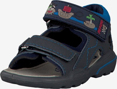 Pepino Sandale 'Tim' in nachtblau / neonblau, Produktansicht