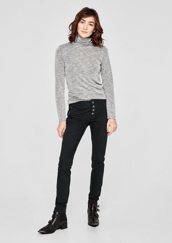 s.Oliver RED LABEL Shape Superskinny: Geknöpfte Jeans