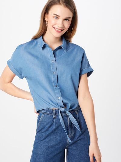 ONLY Bluse 'Milen' in blue denim, Modelansicht