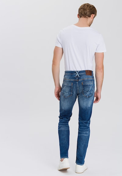 Cross Jeans Jeans 'Jimi' in blue denim: Rückansicht