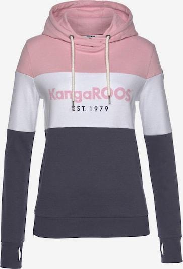 KangaROOS Hoodie in nachtblau / rosa / weiß, Produktansicht