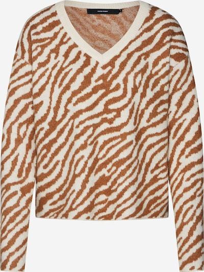 VERO MODA Pullover in braun / weiß, Produktansicht