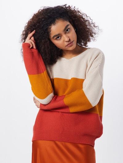 Pulover 'Brenda' ABOUT YOU pe crem / miere / roșu, Vizualizare model