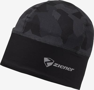 ZIENER Mütze in grau / schwarz, Produktansicht