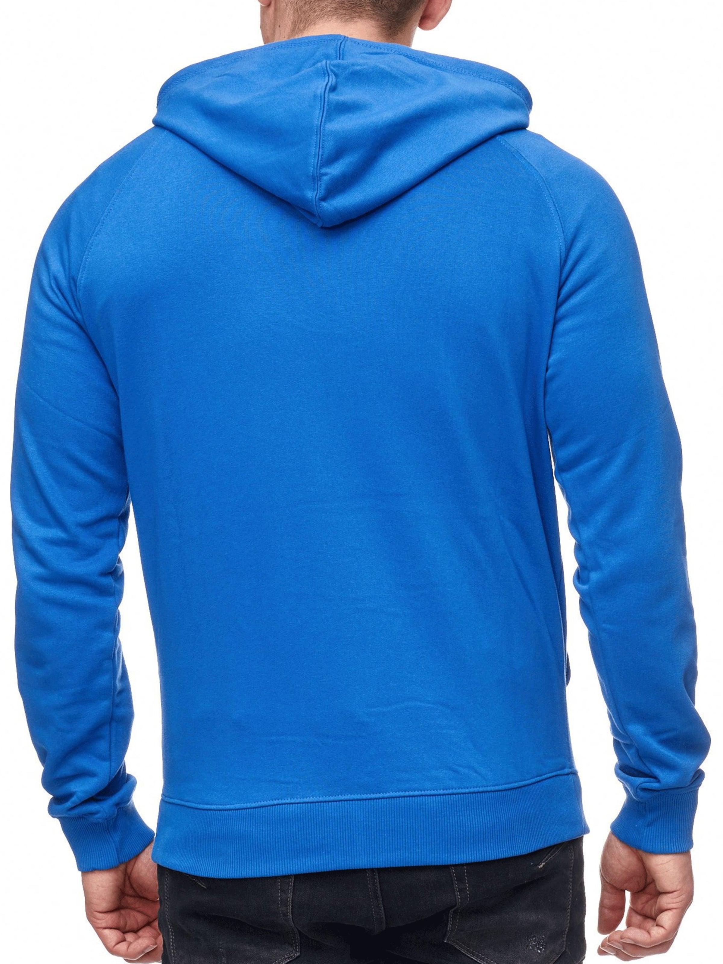 Indicode Hoodie Royalblau Jeans In 'santos' QoBWxrdCe