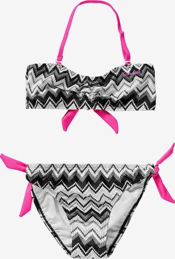 Kilmanock Bikini 'GOLDIE' in pink / schwarz / weiß, Produktansicht
