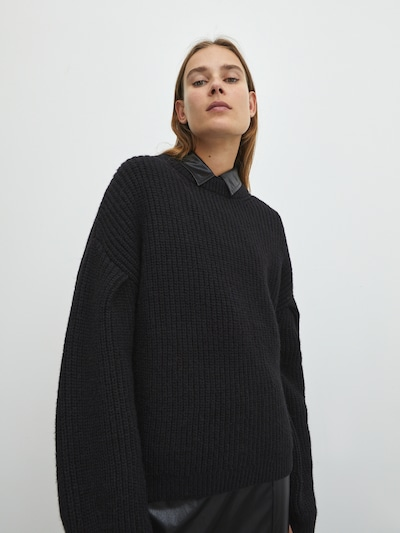 EDITED Pullover 'Beaneth' i sort, Modelvisning
