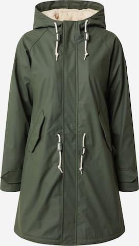 Derbe Between-season jacket 'Travel Cozy Friese RC' in Green