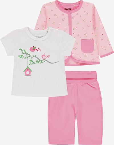 KANZ Set in rosa / weiß, Produktansicht