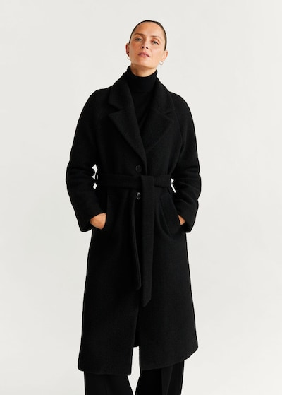 MANGO Mantel 'Robe' in schwarz, Modelansicht