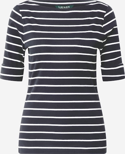 Lauren Ralph Lauren Shirt in de kleur Navy / Wit: Vooraanzicht