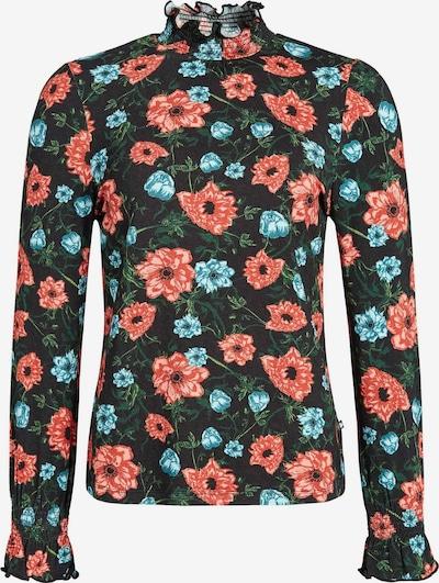khujo Shirt 'ANNKEA' in de kleur Aqua / Spar / Lichtrood / Zwart, Productweergave