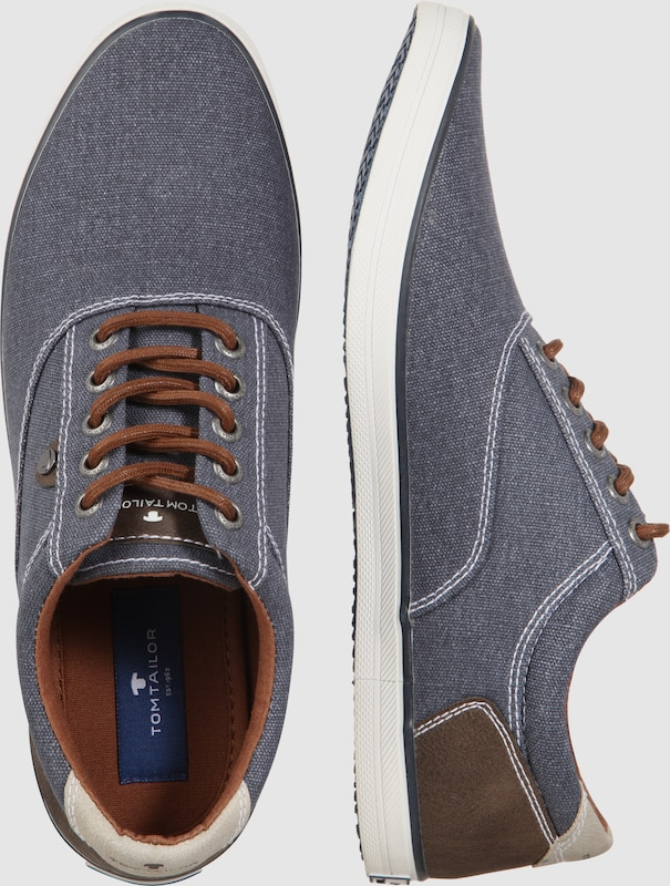 TOM TAILOR Flacher Stoff-Sneaker
