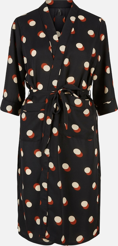 Y.A.S Kimono in rubinrot   schwarz   naturweiß  Große Preissenkung