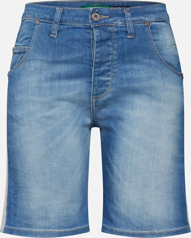 PLEASE Shorts in blue denim, Produktansicht