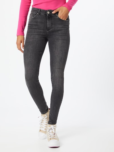 PIECES Jeans 'Delly' in grey denim, Modelansicht