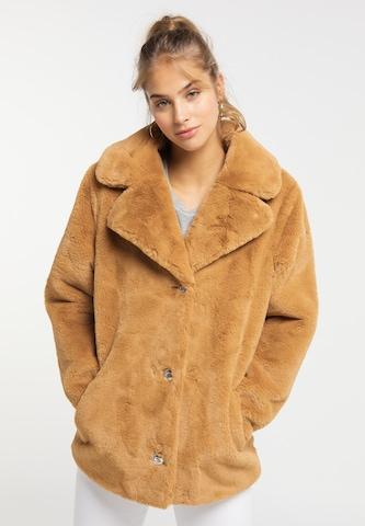 MYMO Between-Seasons Coat in Beige