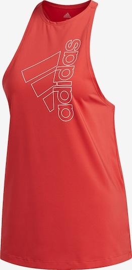 Sport top ADIDAS PERFORMANCE pe roșu, Vizualizare produs