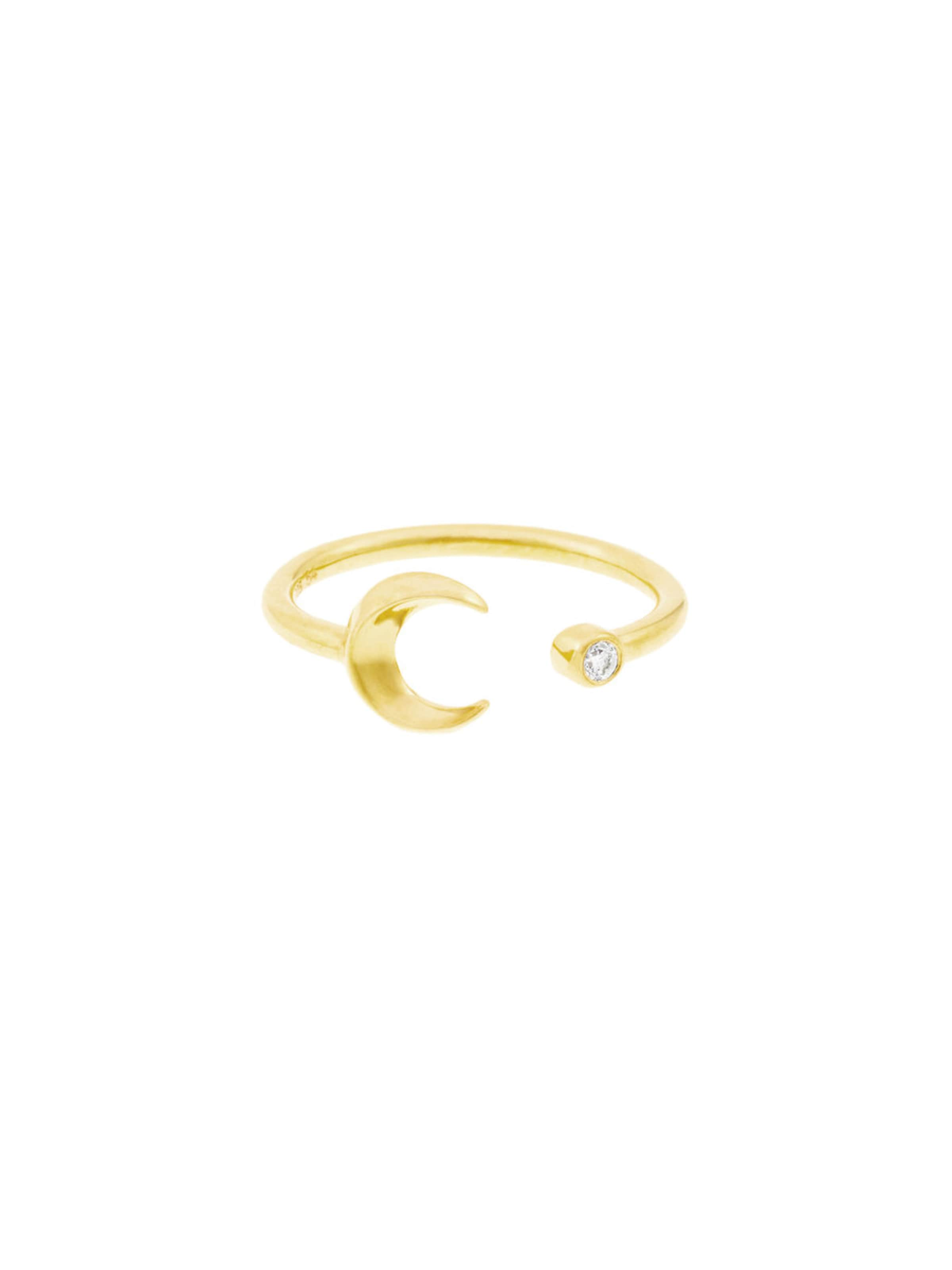 Id Crescent Ring In Gold Fine Moon m0wNv8n