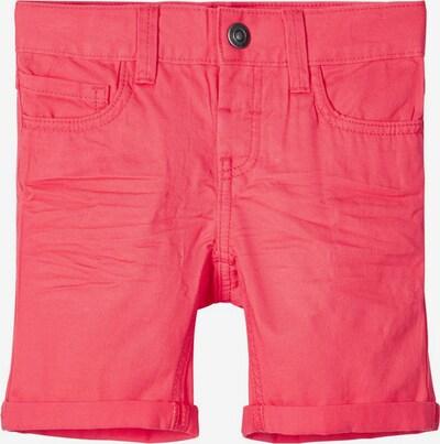 NAME IT Twillgewebte Baumwoll Shorts in rot, Produktansicht
