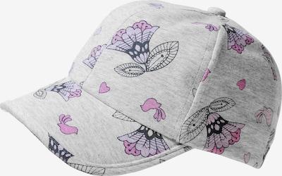 STERNTALER Cap mit UV-Schutz 50+ in grau / lila / pink / schwarz, Produktansicht