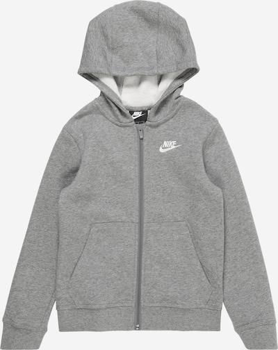 Nike Sportswear Sweatjacke in grau / weiß, Produktansicht