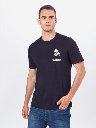 ADIDAS ORIGINALS T-Shirt 'Goofy' in schwarz / weiß: Frontalansicht