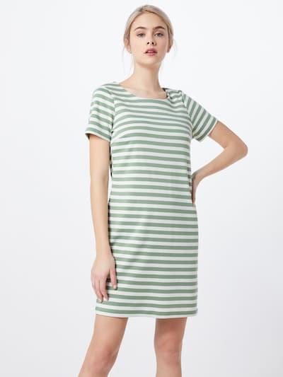 VILA Jerseykleid 'VITinny New' in grün / weiß, Modelansicht