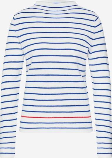 PIECES Pullover 'NIKITA' in blau / weiß, Produktansicht