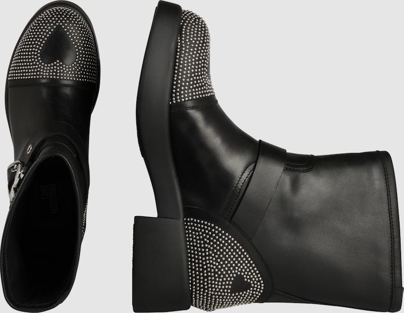 Love Moschino | Stiefel 'NEW YORK STUDS 1' Schuhe Gut getragene Schuhe