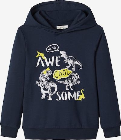 NAME IT Sweatshirt in nachtblau / gelb / weiß, Produktansicht