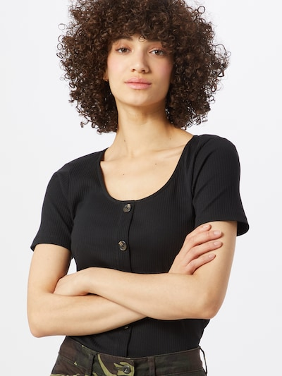 VERO MODA Shirt in de kleur Zwart, Modelweergave