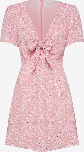 GLAMOROUS Blusenkleid 'KA6343' in pink / weiß, Produktansicht