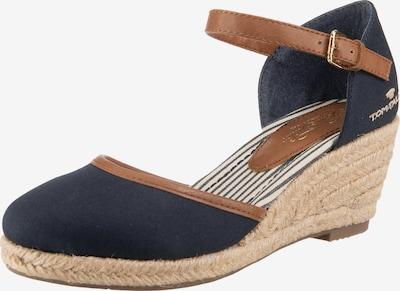 TOM TAILOR Remienkové sandále - námornícka modrá / medená, Produkt