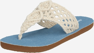 O'NEILL Slipper 'CROCHET' in creme / blau: Frontalansicht