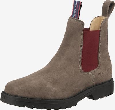 Blue Heeler Boots in grau / kirschrot: Frontalansicht