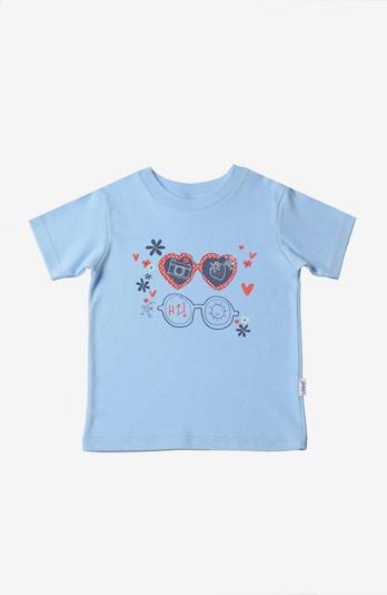 LILIPUT Shirt in navy / hellblau / pastellrot, Produktansicht