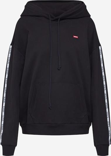 LEVI'S Majica 'Unbasic Hoodie' | črna / bela barva, Prikaz izdelka