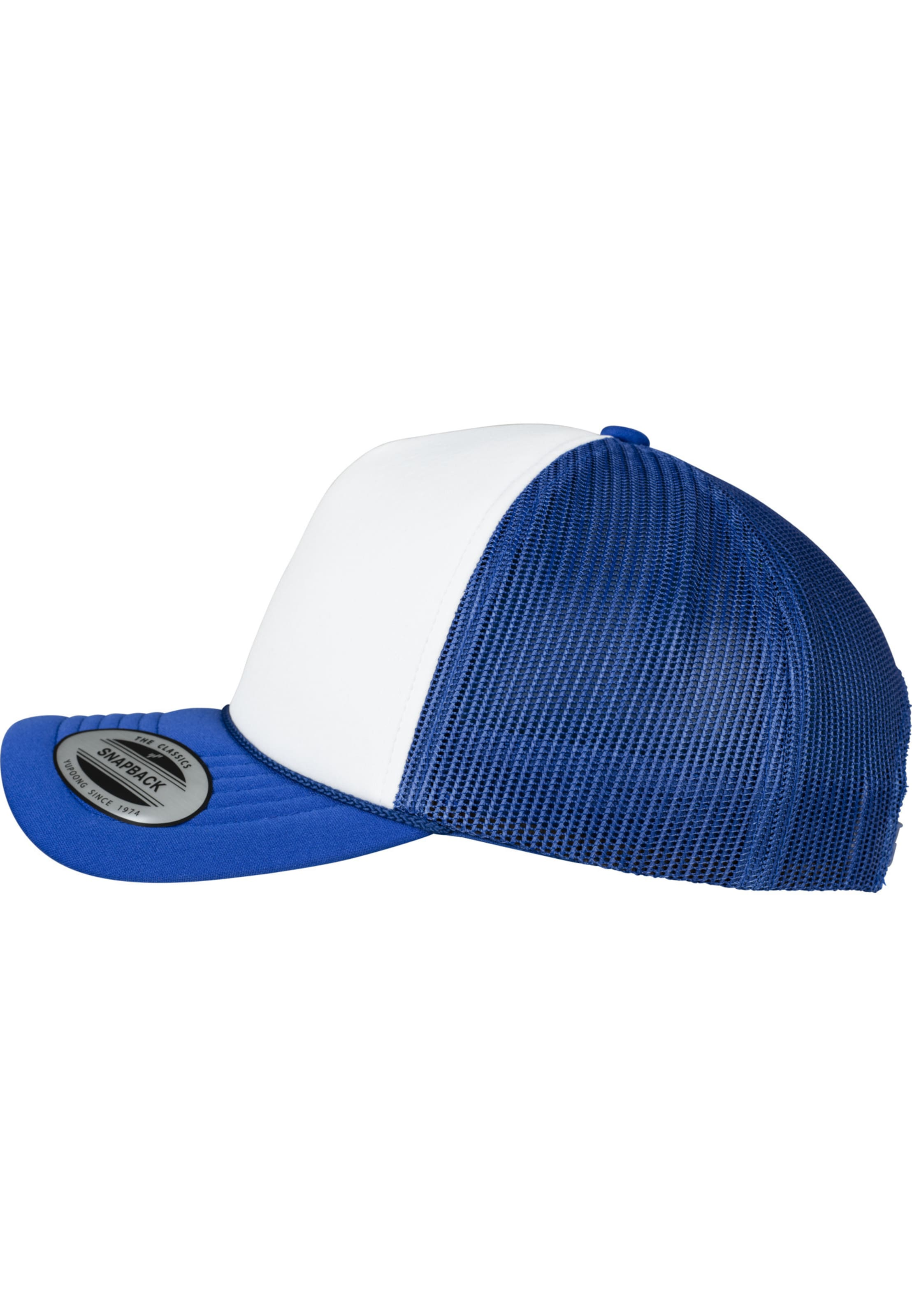 Curved Visor' Cap Flexfit RoyalblauWeiß 'foam In Trucker WED2IH9