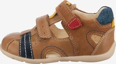 GEOX Sandalen in blau / braun / gelb, Produktansicht