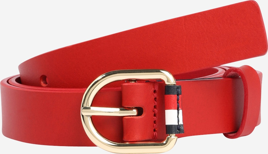 TOMMY HILFIGER Gürtel 'Corporate Belt 2.5' in rot, Produktansicht